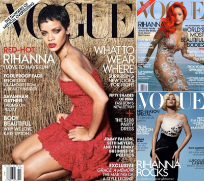 Rihanna Vogue US November April UK 2012 2011