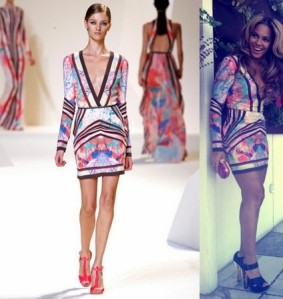 beyonce-elie-saab-spring-2013-floral-cocktail-dress-at-the-roc-nation-pre-grammys-brunch-instagram1