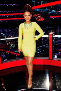 christina-milian-the-voice-celeb-boutique-carly-dress-sam-edelman-marina-pumps-doloris-petunia-necklace