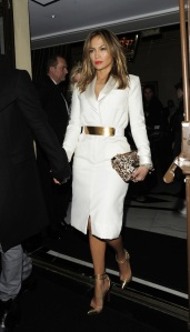 Jennifer Lopez seen with her boyfriend Casper Smart leaving the 'The Dorchester' hotel in London
